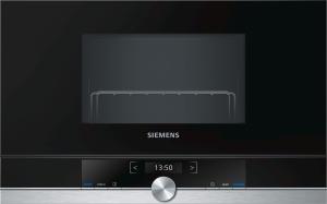 Siemens BE634RGS1 Einb-Mikrowelle edelstahlf.60cm breite u.38cm hohe Hänge-und Hochschränke Rechtsanschlag
