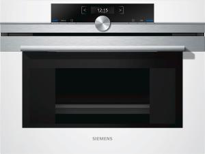 Siemens - CD634GBW1 Dampfgarer weiß 45cm Edelstahl TFT-Display IQ700