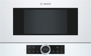 Bosch BFL634GW1 Einbau-Mikrowelle weiß f.60cm breite u.38cm hohe Hänge-und Hochschränke Linksanschlag