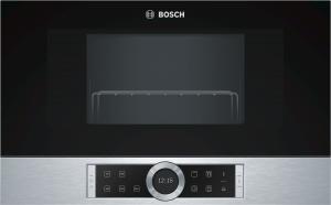 Bosch BER634GS1Einb.-Mikrow.m.Grill edelst f.60cm breite u.38cm hohe Hänge-und Hochschränke Rechtsanschlag