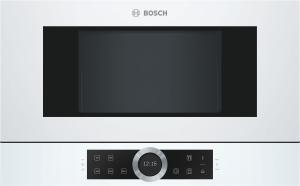 Bosch BFR634GW1 Einbau-Mikrowelle weiß f.60cm breite u.38cm hohe Hänge-und Hochschränke Rechtsanschlag