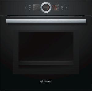 Bosch HNG6764B6 Einbaubackofen m.Mikrowelle u.Dampfstoßfunktion 14Heizungsarten HomeConnect Funktion