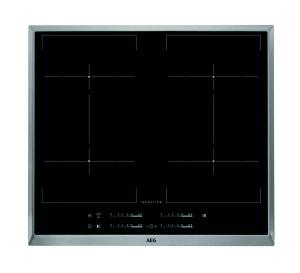 AEG HKE64450XB 60 cm, 4-fach Induktion MaxiSense Plus (4x21cm), BridgeFunktion
