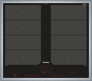 Siemens EX645LXC1E Edelstahl 60 cm Induktions-Kochstelle, Glaskeramik