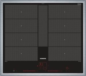Siemens EX645LYC1E Edelstahl 60 cm Induktions-Kochstelle autark , Glaskeramik