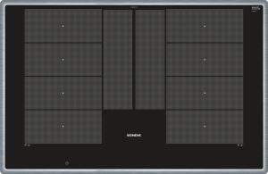 Siemens EX845LYC1E Edelstahl 80 cm Induktions-Kochstelle, Glaskeramik