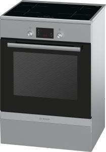 Bosch HCA748450 Standherd 60cm Edelstahl m.Induktionskochfeld und 3f.Auszug 8Heizarten