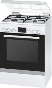 Bosch HGD745220 Gas-Kombi-Standherd 60cm weiß m.8Heizarten Uhr