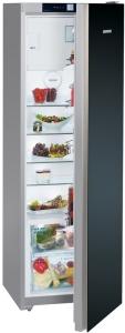 Liebherr KBPgb4354 Standkühlschrank mit BioFresh Glasfront schwarz A+++-20% LED-Lichtsäule