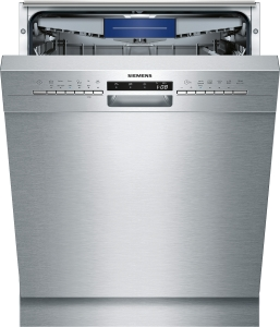 Siemens SN436S03ME Unterbaugeschirrspüler mit Edelstahlfront Besteckschublade 46dB A++