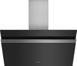 Siemens LC91KWV60Schwarz mit Glasschirm Wand-Esse, 90 cm