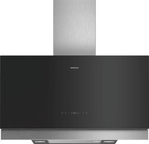 Siemens LC97FQP60 Schwarz mit Glasschirm Wand-Esse, 90 cm
