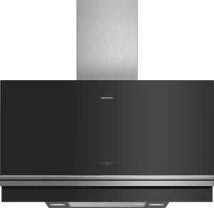 Siemens LC97FVP60 Schwarz mit Glasschirm Wand-Esse, 90 cm Vertikal-Design 730m³/h LED