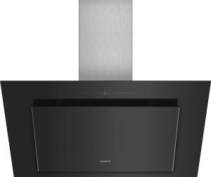 LC98KLV60 Schwarz mit Glasschirm Wand-Esse, 90 cm