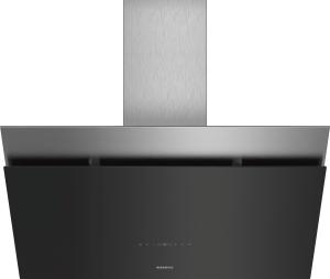 LC98KPP60 Schwarz mit Glasschirm Wand-Esse, 90 cm