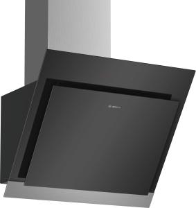 Bosch DWK67HM60Wandesse, 60 cm Schräg-Essen-Design schwarz 660m³/h Luftleistung A