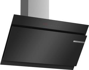 DWK97JQ60Wandesse, 90 cm Schräg-Essen-Design schwarz 730 cbm/h LED-Modul