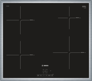 Bosch PUE645BB2EEdelstahl, umlaufender Rahmen 60 cm Induktions-Kochfeld Glaskeramik
