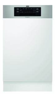 AEG FEE62400PMintegrierbarer Geschirrspüler 45cm breit ExtraSilent 43dB A++