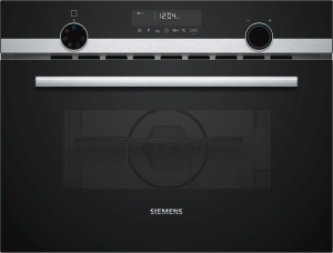 CM585AMS0 Kompaktbackofen mit Mikrowelle 45cm schwarz/Edelst. Grill 15Programme Led.Beleuchtung