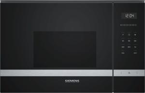 BF525LMS0 Einbau-Mikrowelle schwarz f.60cm breite u.38cm hohe Hänge-und Hochschränke Linksanschlag