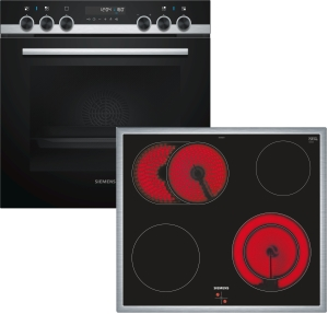 Siemens PQ521KA00 Einbauherd-Set best.aus HE578ABS0+EA645GN17 mit Pyrolyse CookControl30