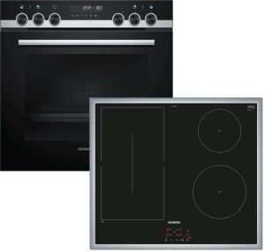 Siemens PQ521DA00Z ( EM645CSB5E, HZ531000, HE578ABS1 ) Herdset Induktion 9 Heizarten cookControl30LCD-Display Pyrolyse