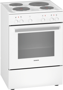 Siemens HQ5P00020 Standherd 60 cm weißGußkochplatten5 HeizartenEEK: A