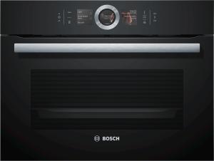 CSG656RB7 Dampfbackofen 45 cm HomeConnectBoschAssistTFT-TouchdisplayVulkan Schwarz