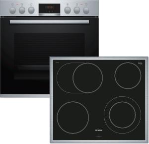 Bosch - HND411LR61 ( NKN645GA1E, HEA513BR2 ) Herdset  LED-Display  5 Heizarten