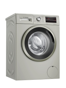 WAN282X0 Waschmaschine, Frontlader, 7 kg, silber-inox, 1400 U/min, EcoSilence Drive + AllergyPlus