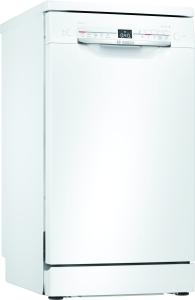 Bosch SPS2HKW41E Stand Geschirrspüler weiß 45 cm HomeConnect Startzeitvorwahl EEK: A+