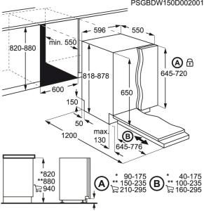 FSB53617Z Geschirrspüler vollintegrierbar 60 cm QuickSelectAirDryBeamOnFloor
