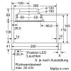 LI64LA530 Silbermetallic 60 cm Flachschirmhaube A+