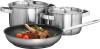 AEG A3SS3 teiliges Koch- und Brat -Set bestehend aus 1x Bratpfanne (24 cm) und 2x Töpfen(16 cm, 20 cm)