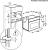 AEG KEK742220M Kompakt-Backofen 45 cm hoch