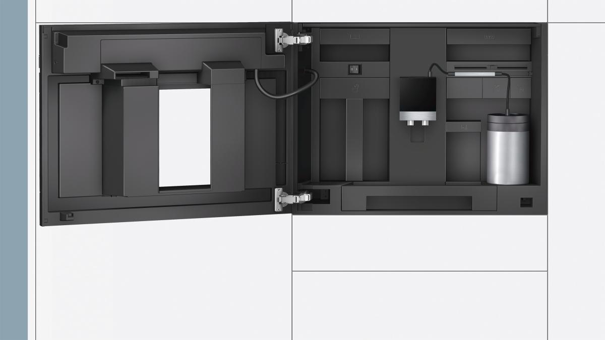 siemens siemens ct636lew1 einbau kaffeevollautomat 45cm wei g nstig kaufen. Black Bedroom Furniture Sets. Home Design Ideas