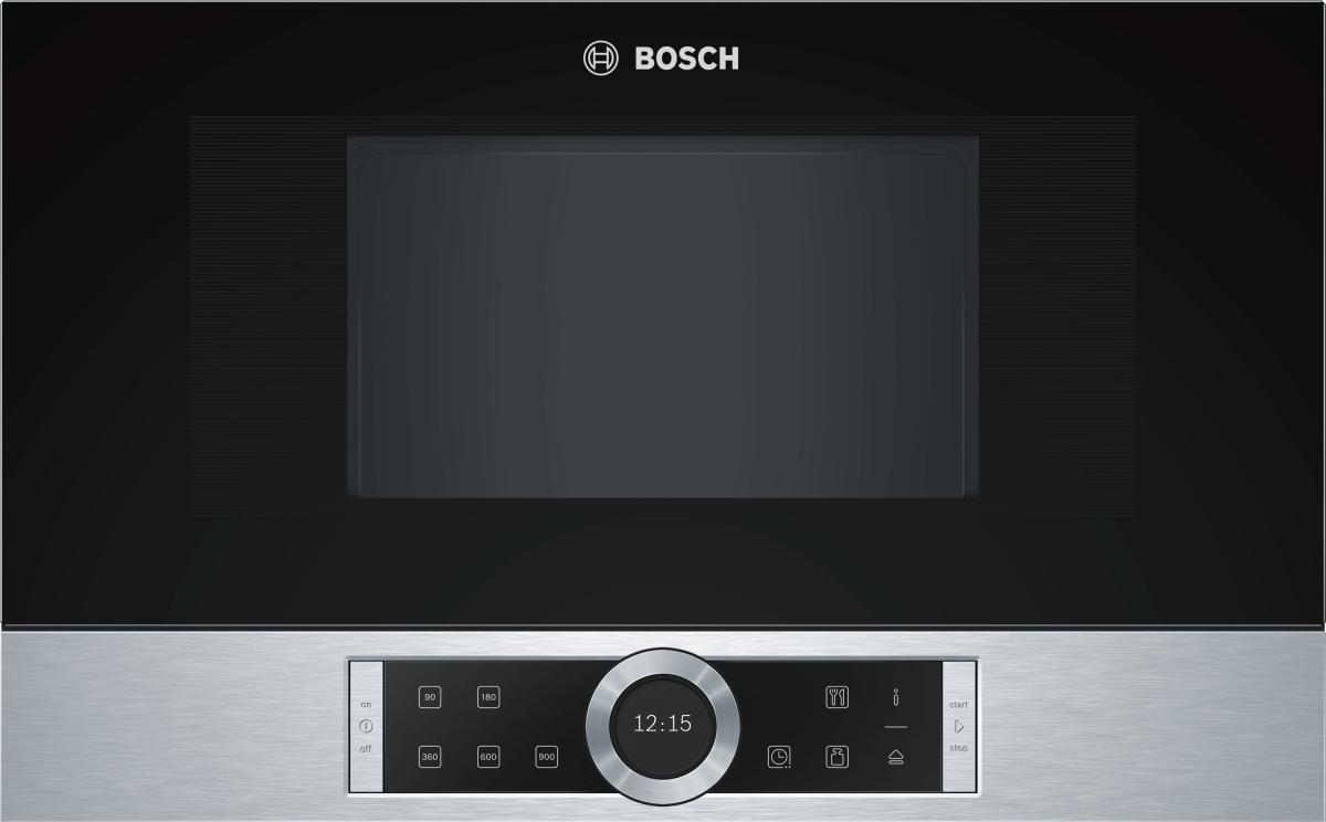 Bosch BFR634GS1 Einbau-Mikrowelle edelst.f.60cm breite u.38cm hohe Hänge-und Hochschränke Rechtsanschlag