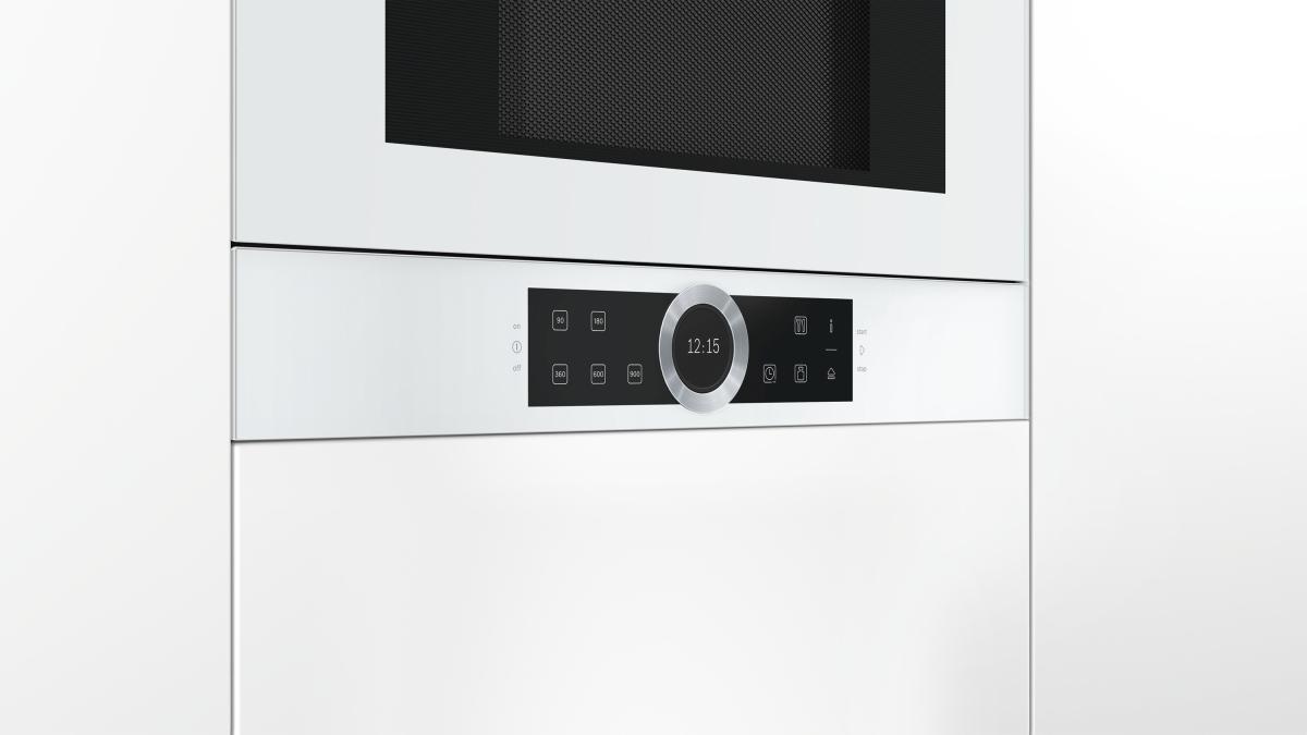 bosch bfr634gw1 einbau mikrowelle wei breite hohe h nge und hochschr nke. Black Bedroom Furniture Sets. Home Design Ideas