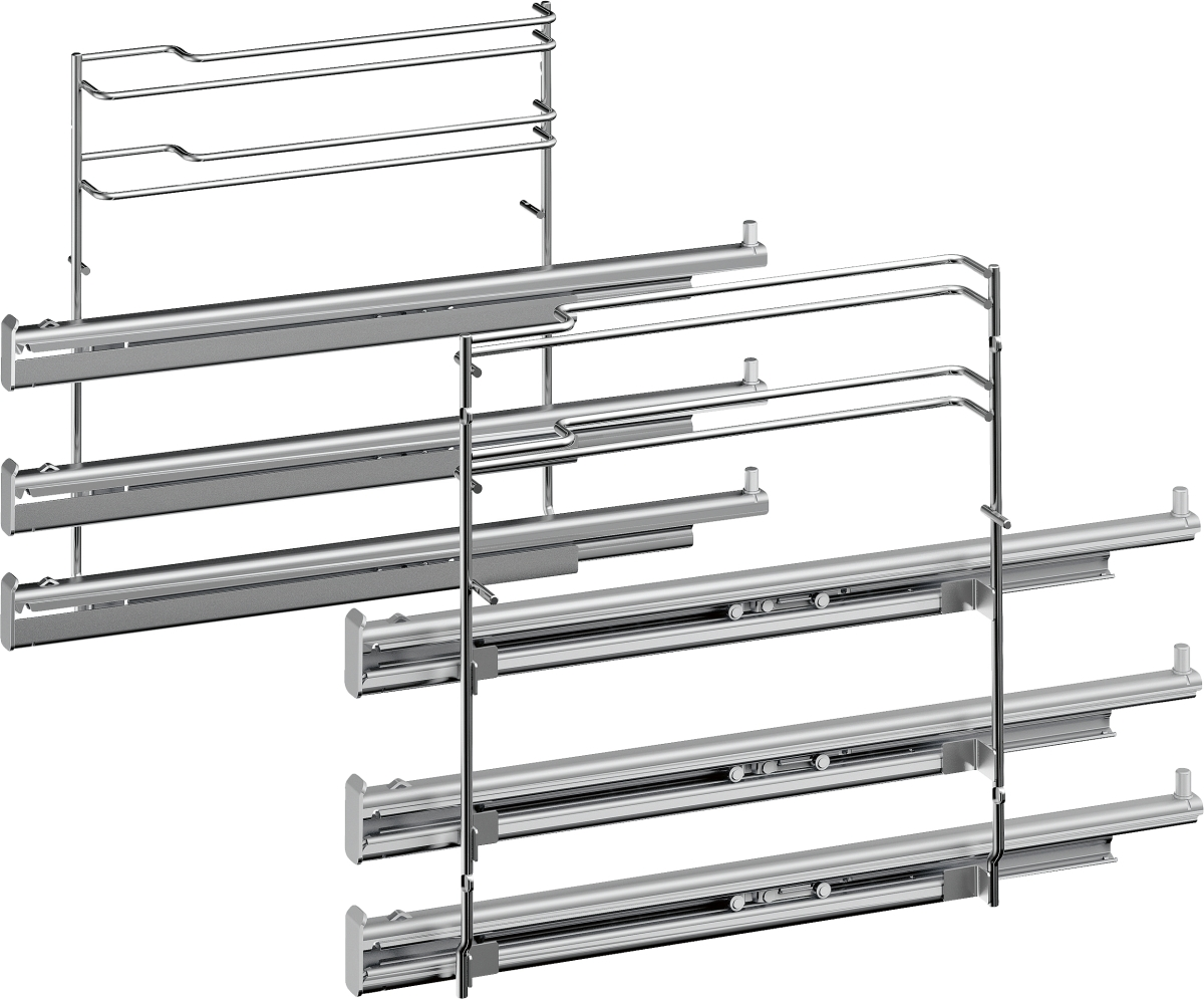 Bosch HEZ638370 Teleskop-Vollauszug 3-fach, pyrolysef.Herde/Backöfen-Zubehör