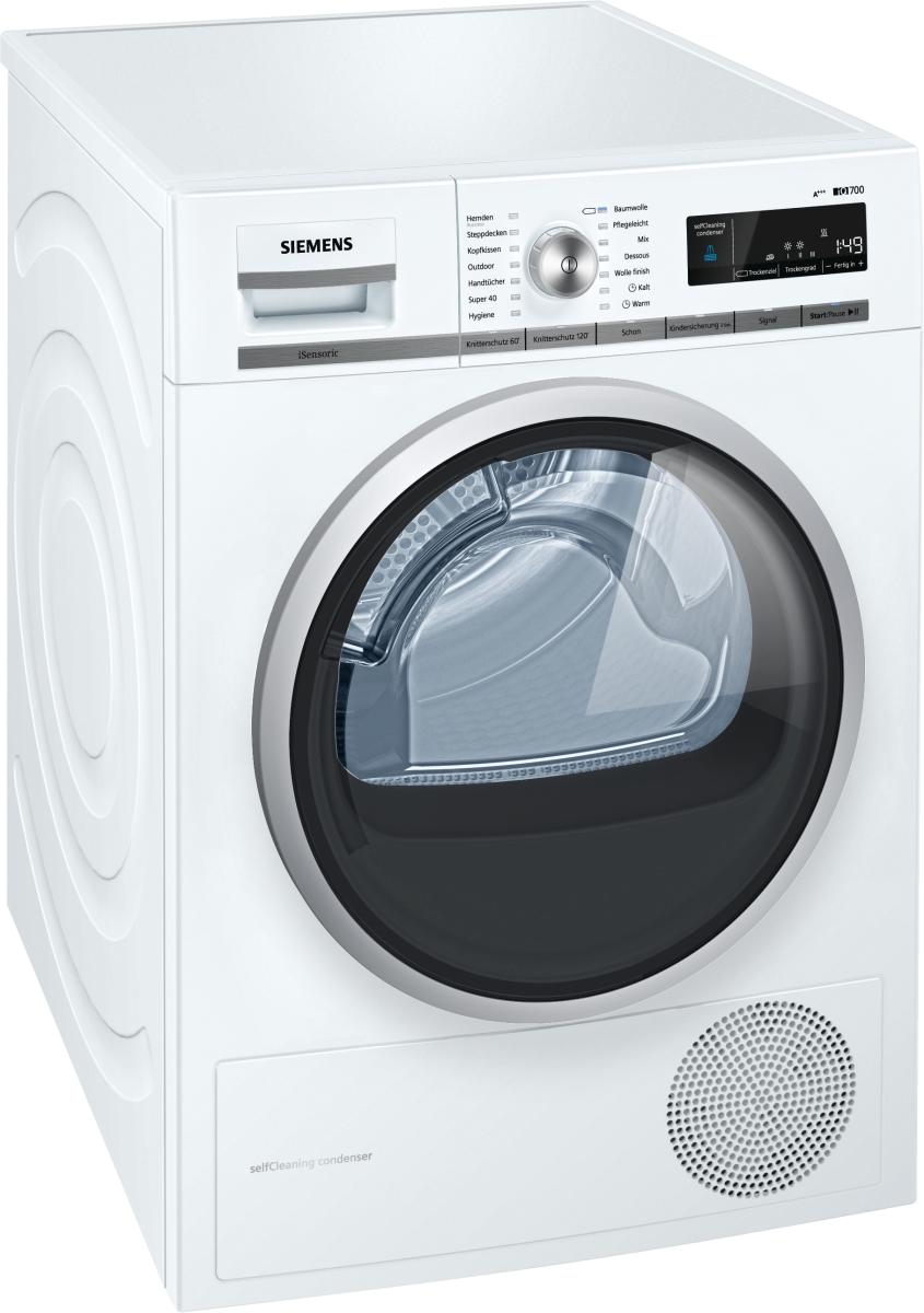 Siemens WT47W5W0 Wärmepumpentrockner 8kg A+++ selbstreinigend