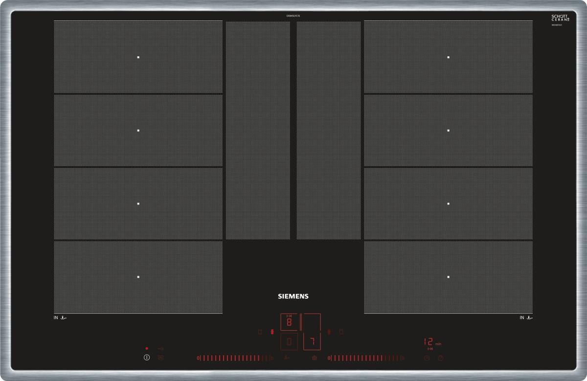 Siemens EX845LYC1E Edelstahl 80 cm Induktions-Kochstelle, Edelstahlrahmen