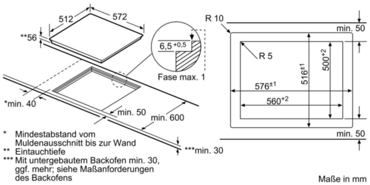 Siemens Ey601cxb1e 60 Cm Induktions Kochfeld Glaskeramik