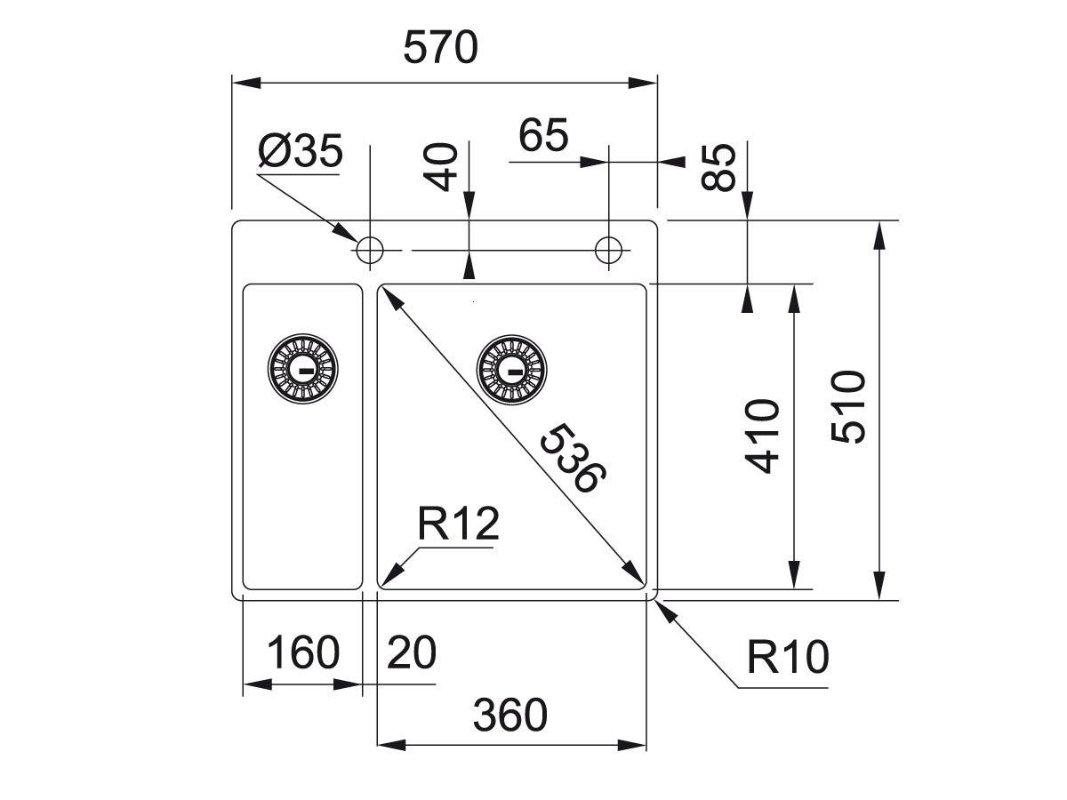 franke box bxx 260 36 16 a g nstig kaufen. Black Bedroom Furniture Sets. Home Design Ideas