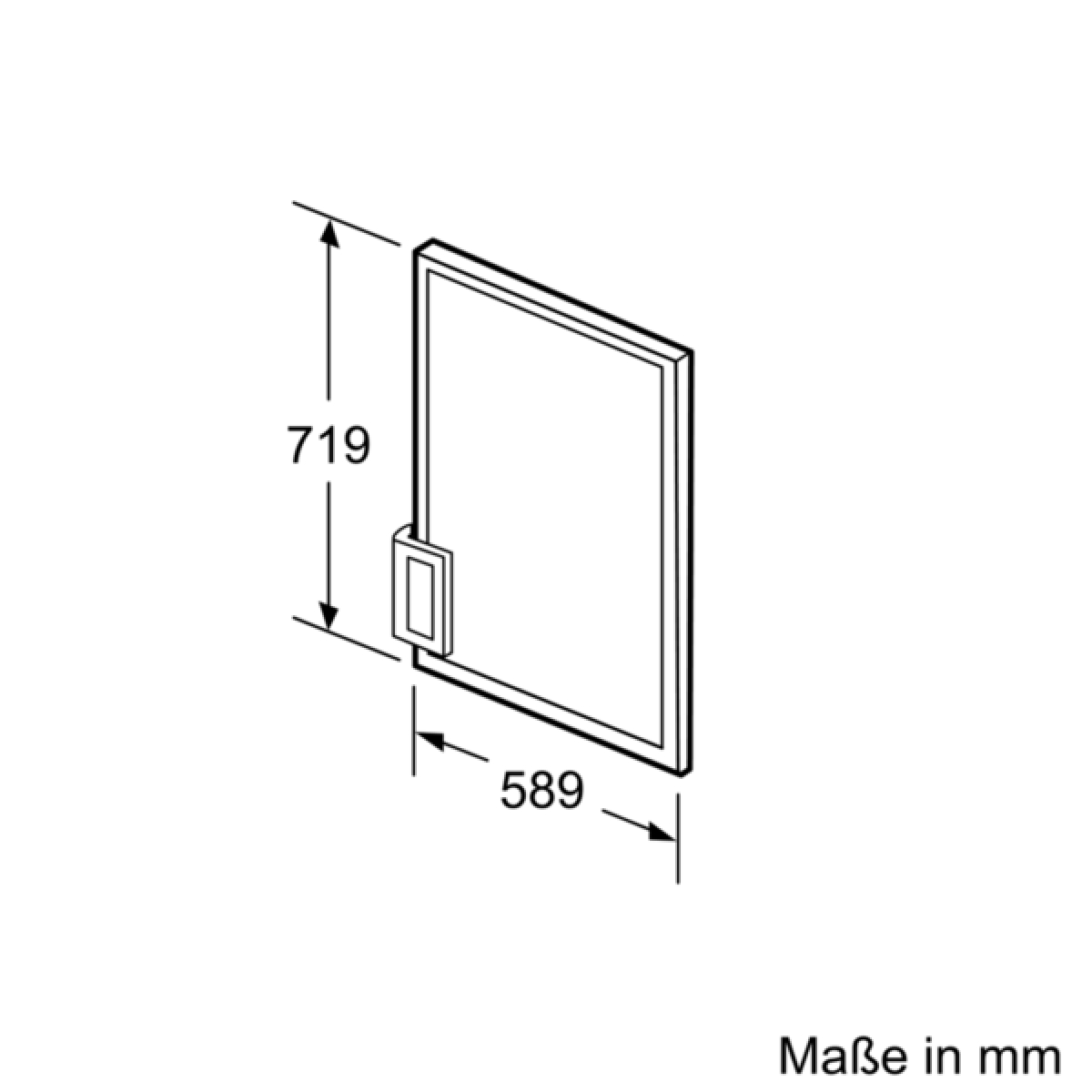 Siemens KF10ZAX0 Zubehör Kühlschränke weiße Türfront mit ... | {Zubehör für kühlschränke 20}