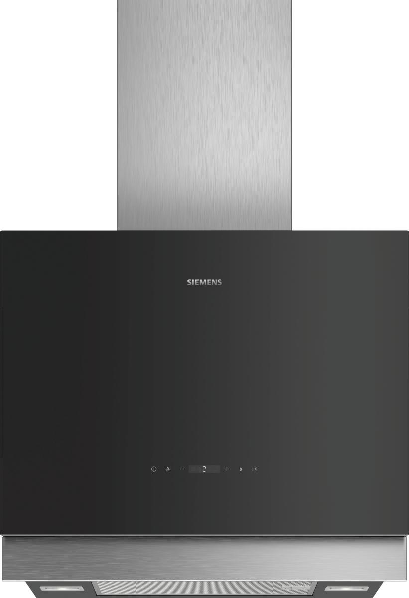 Siemens LC67FQP60Schwarz mit Glasschirm Wand-Esse, 60 cm