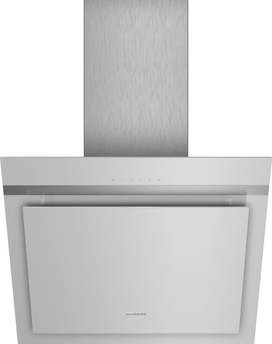 Siemens LC67KHM10 silber mit Glasschirm Wand-Esse, 60 cm
