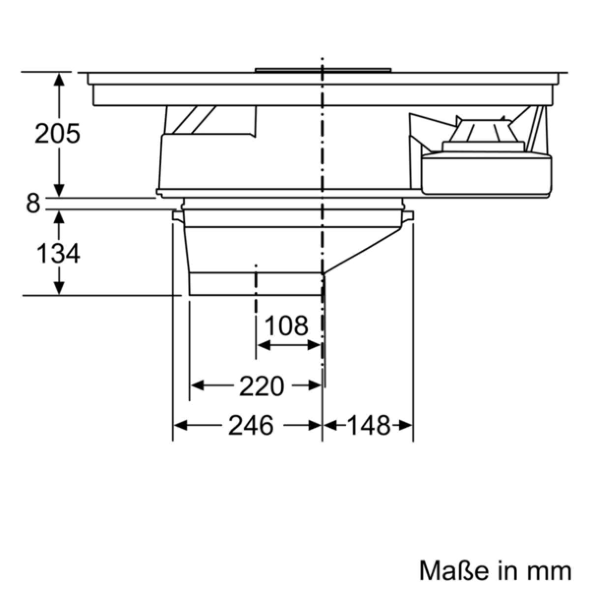 siemens ex875lx34e induktions kochfeld mit integriertem dunstabzug 80 cm induktions kochstelle. Black Bedroom Furniture Sets. Home Design Ideas