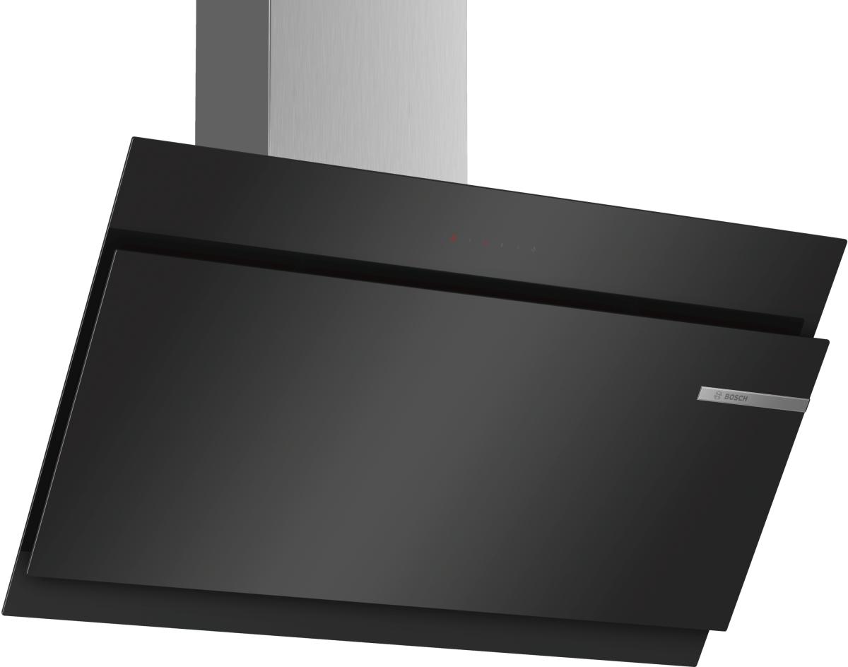 Bosch DWK97JM60Wandesse, 90 cm Schräg-Essen-Design schwarz 730 cbm/h LED-Modul