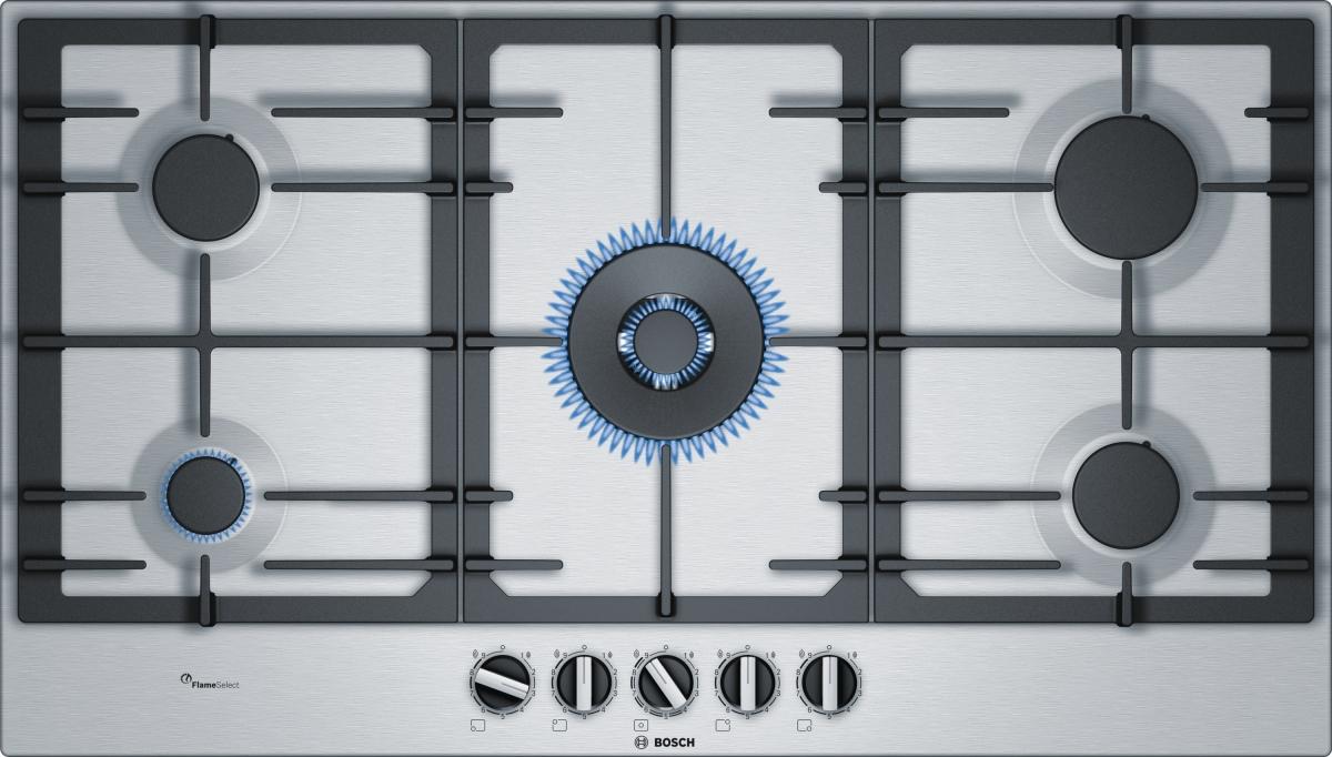 Bosch PCR9A5C90D Gaskochfeld 90cm Leistungsregelung 9stufig